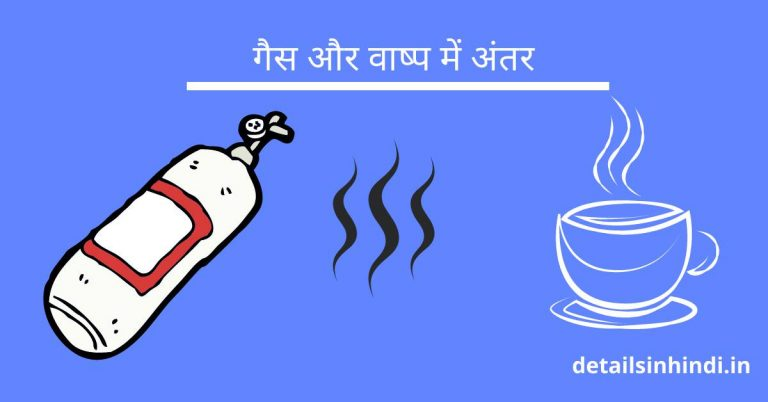 गैस और वाष्प में अंतर : Difference Between Gas and Steam in Hindi
