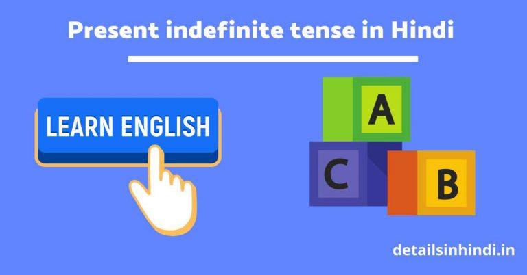 [PDF] Present indefinite tense in Hindi|प्रेजेंट इंडेफिनिटी टेंस