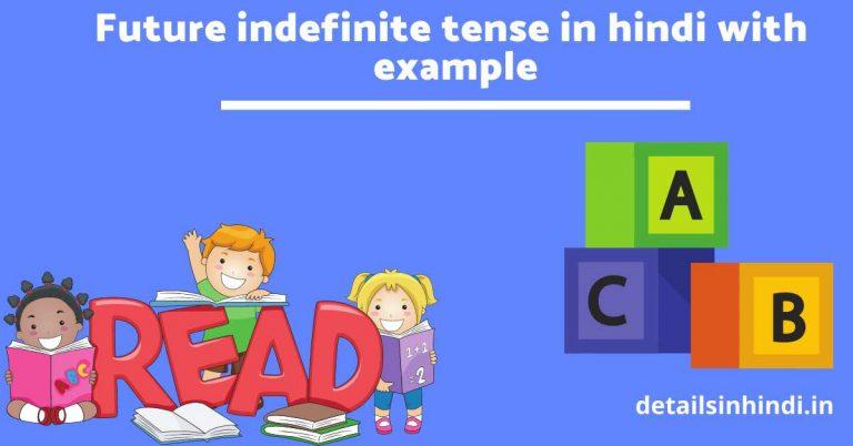 ( नियम और उदाहरण ) Future indefinite tense in Hindi with example